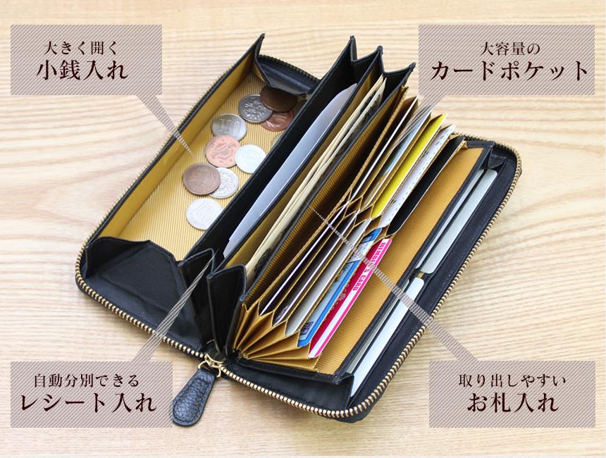 毎日使うなら、お札や小銭、カードが全て収納できるオールインワンのお財布が使いやすい